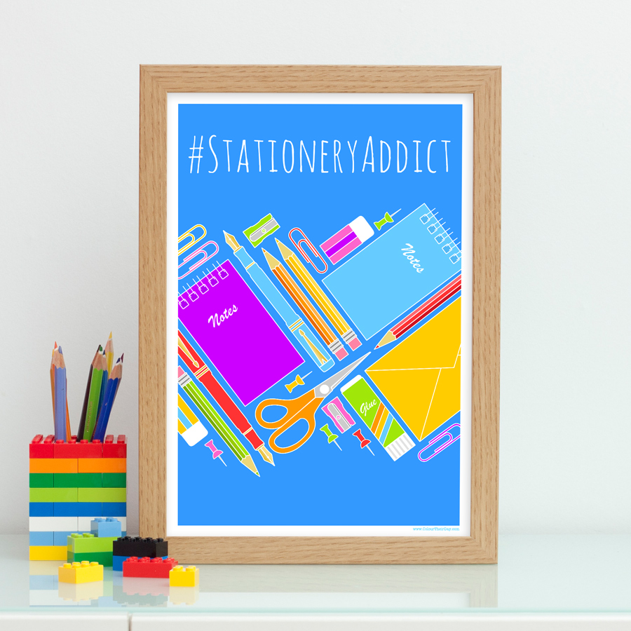 Stationery Addict Print