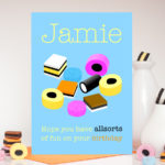 Allsorts Birthday Personalised Boys Name Card