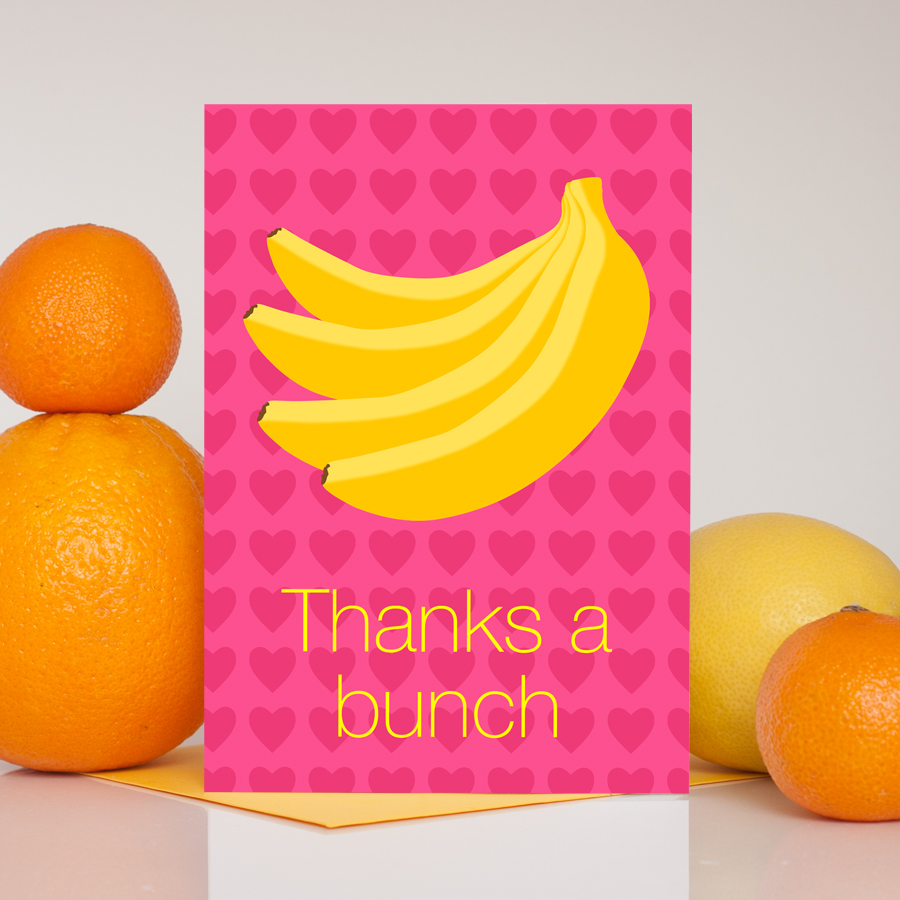 Thanks A Bunch Banana Thank You Card