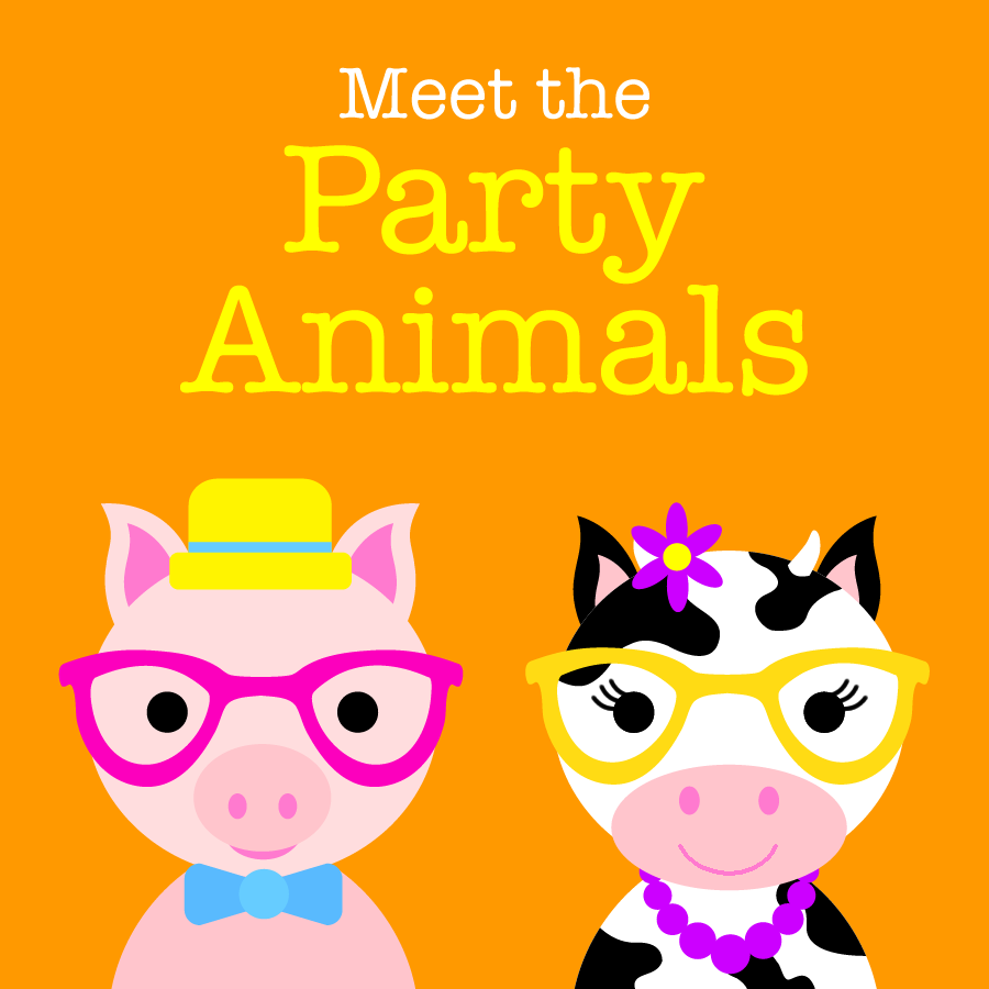 Cute Kids Animal Characters - Party Animals