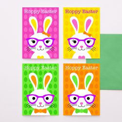 Bunny Easter Cards Pack Of 4