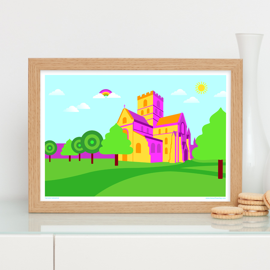 Carlisle Cathedral art print Cumbria