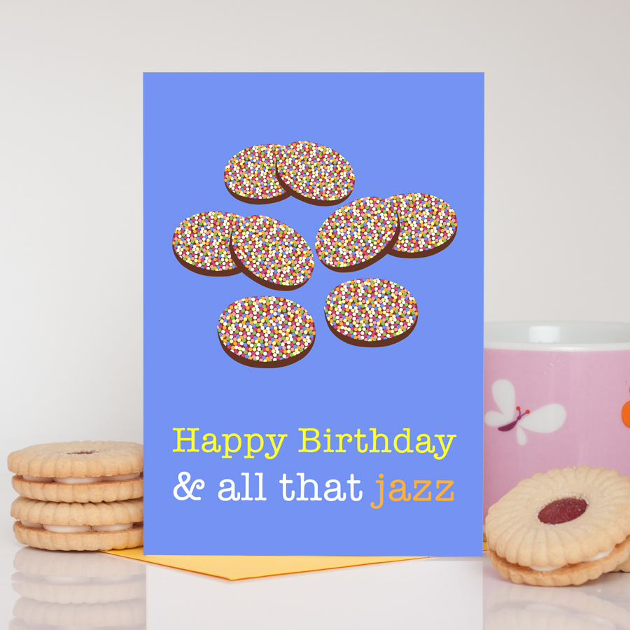All That Jazz Jazzies Birthday Card