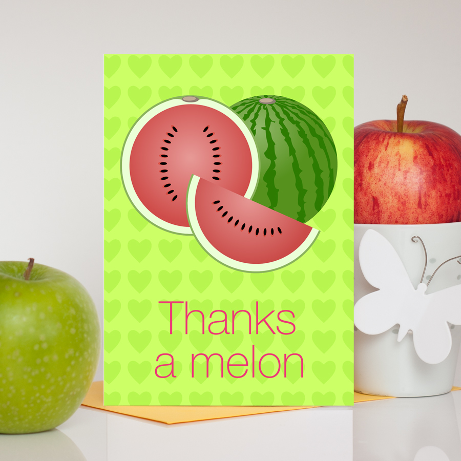 Thanks A Melon Thank You Card