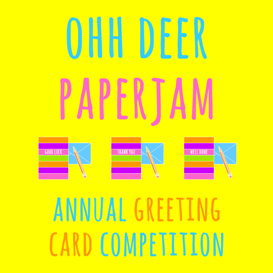 Ohh deer paperjam annual greeting card competition colour their day ohh deer paperjam greeting card competition blog post m4hsunfo