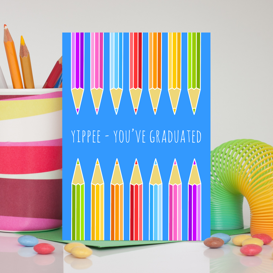 Pencils Graduation Card