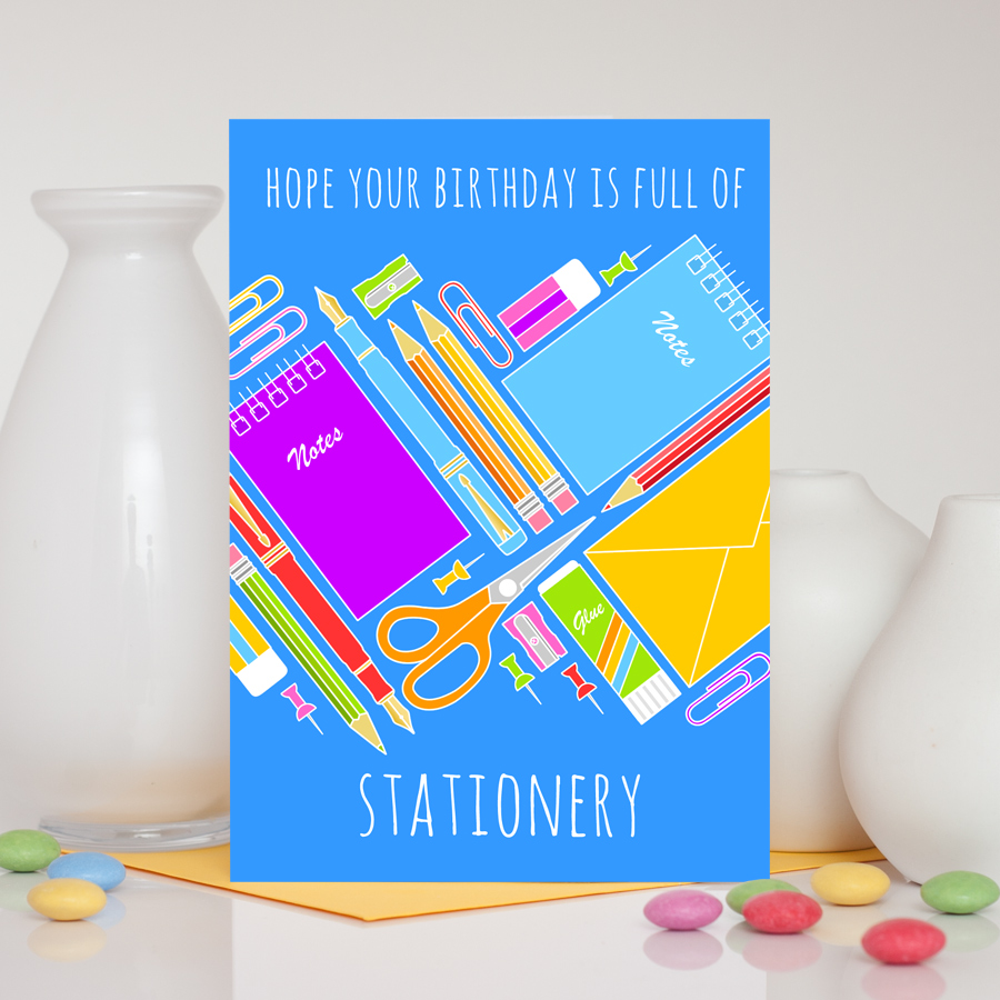 Stationery Addict Birthday Card