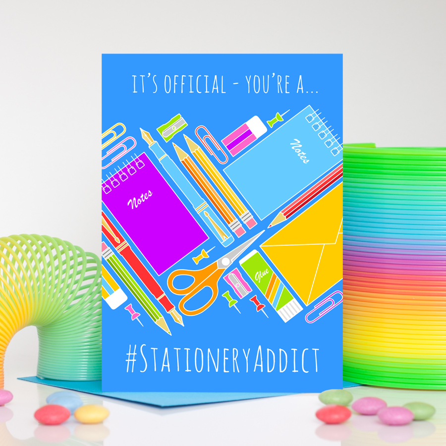 Stationery Addict Greetings Card