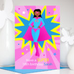 Super Girl Birthday Personalised Name & Age Card