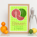 Personalised one in melon print