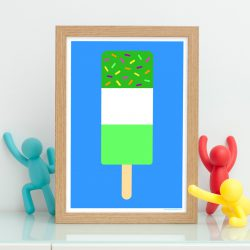 Green fab ice lolly print