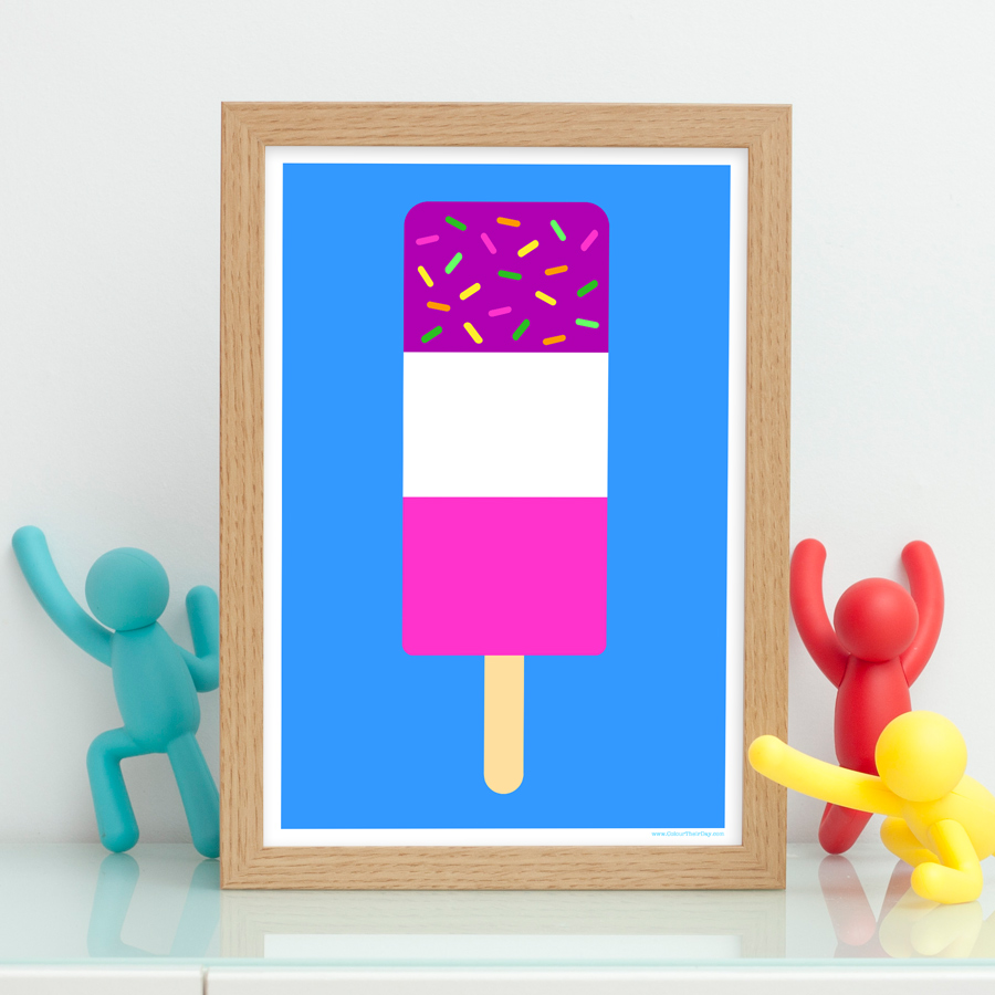 Fab ice lolly cool and funky print