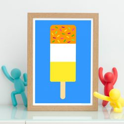 Yellow fab ice lolly print