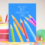 Best teaching assistant ever personalised card