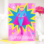 Personalised superhero card for her