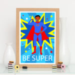 Be super fun unique superhero print for him