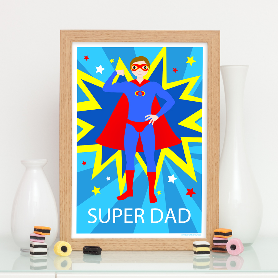 Superhero super dad print