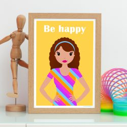 be happy print for her