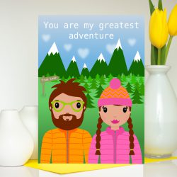 You are my greatest adventure card